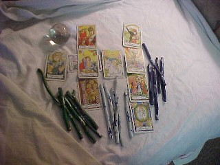 Tools used for Divination: Tarot Cards, Crystal Ball, Rune Sticks